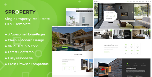 Sproperty - Single Property Real Estate HTML Template - Business Corporate