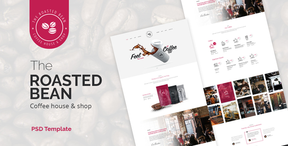 Roasted Bean  - Creative & Coffee Shop PSD Template - Business Corporate
