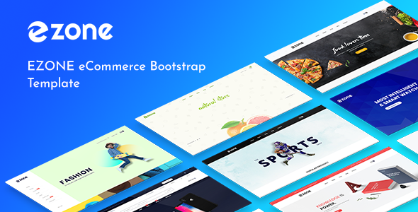Ezone - Multipurpose eCommerce Bootstrap4 Template - Shopping Retail