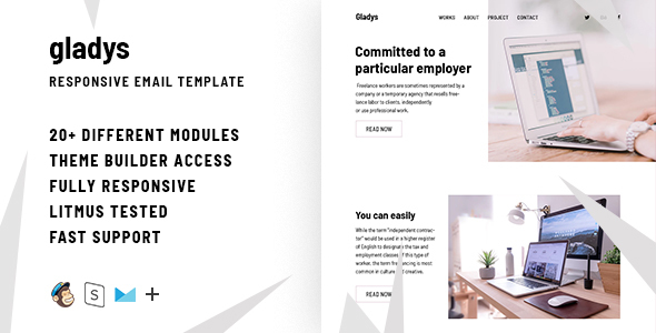 Image of Gladys – Responsive Email + StampReady Builder