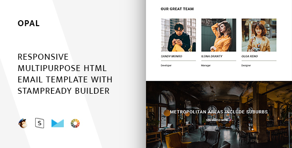 Image of Opal – Responsive Email + StampReady Builder & Mailchimp