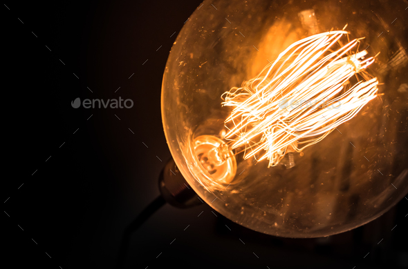 Old vintage light bulb - Stock Photo - Images