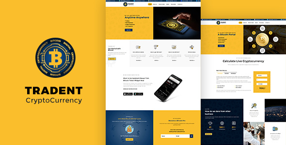 Image of Tradent Cryptocurrency - Bitcoin, Cryptocurrency Theme