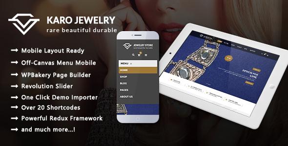 Image of Karo - Jewelry Responsive WooCommerce WordPress Theme