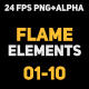 Liquid Elements 2 Flames 01-10 - VideoHive Item for Sale