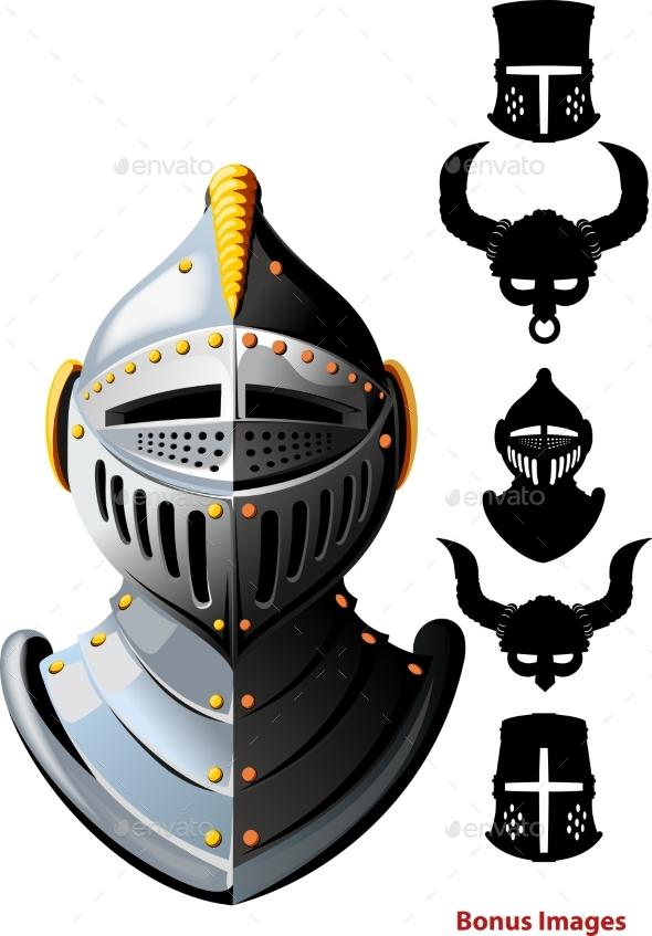 Knights Helmet - Miscellaneous Vectors