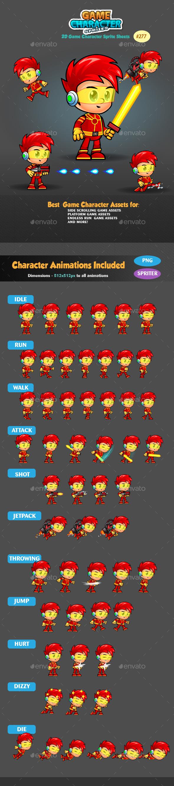 2D Game Character Sprites 277 - Sprites Game Assets