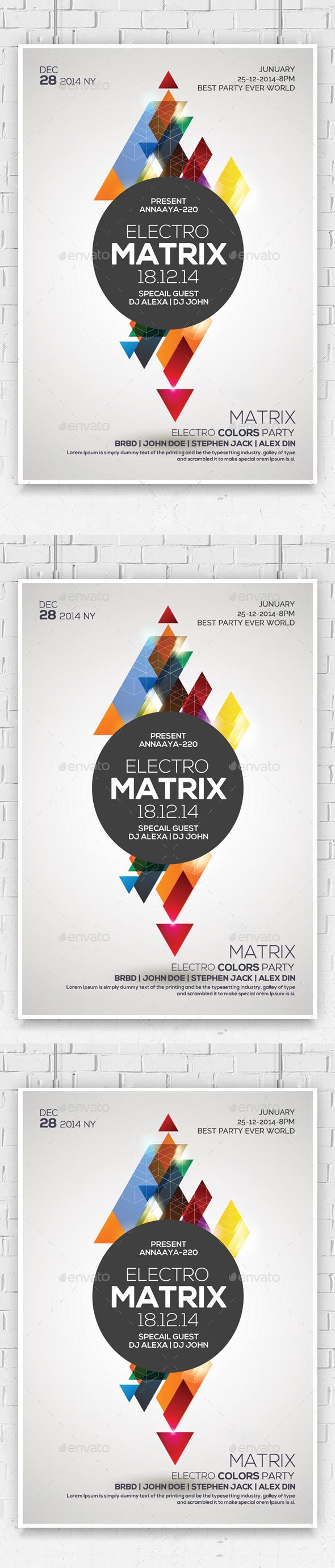 Matrix Sounds Flyer - Flyers Print Templates