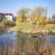 Residential district with a pond park. - PhotoDune Item for Sale