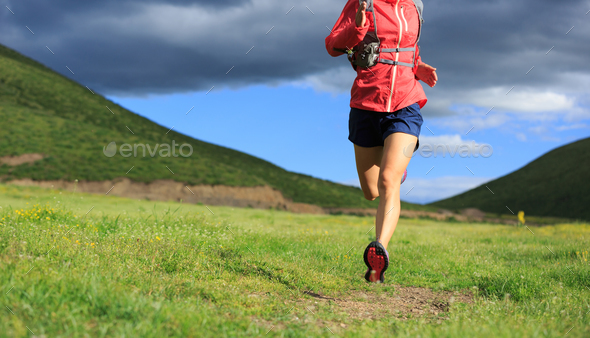 Running away from the dark clouds  - Stock Photo - Images