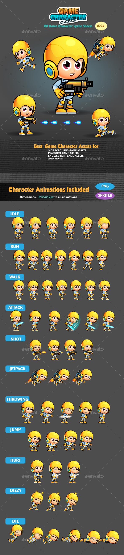 2D Game Character Sprites 274 - Sprites Game Assets