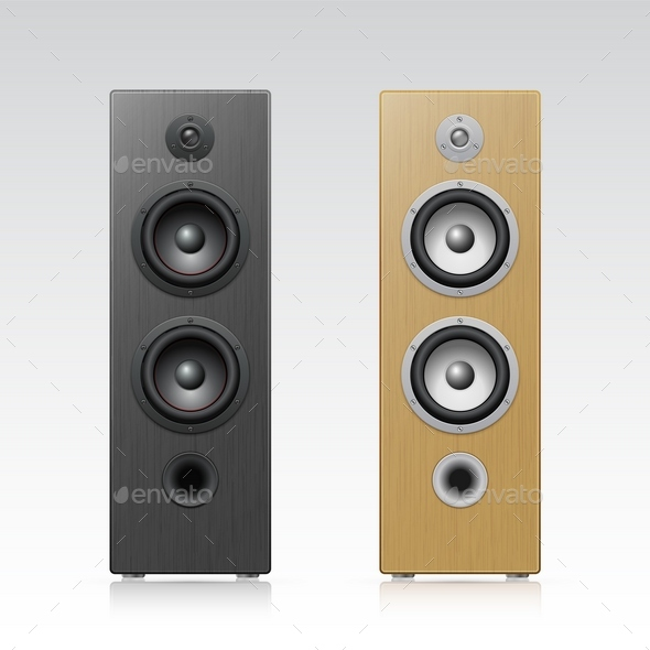 Acoustic speakers - Objects Vectors
