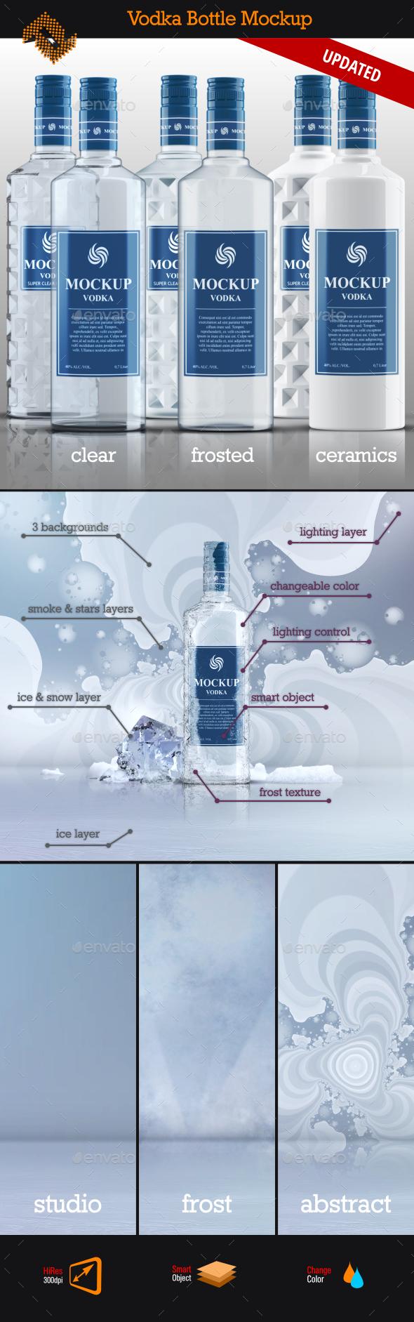 Vodka Bottle Mockup Vol. 5 - Food and Drink Packaging