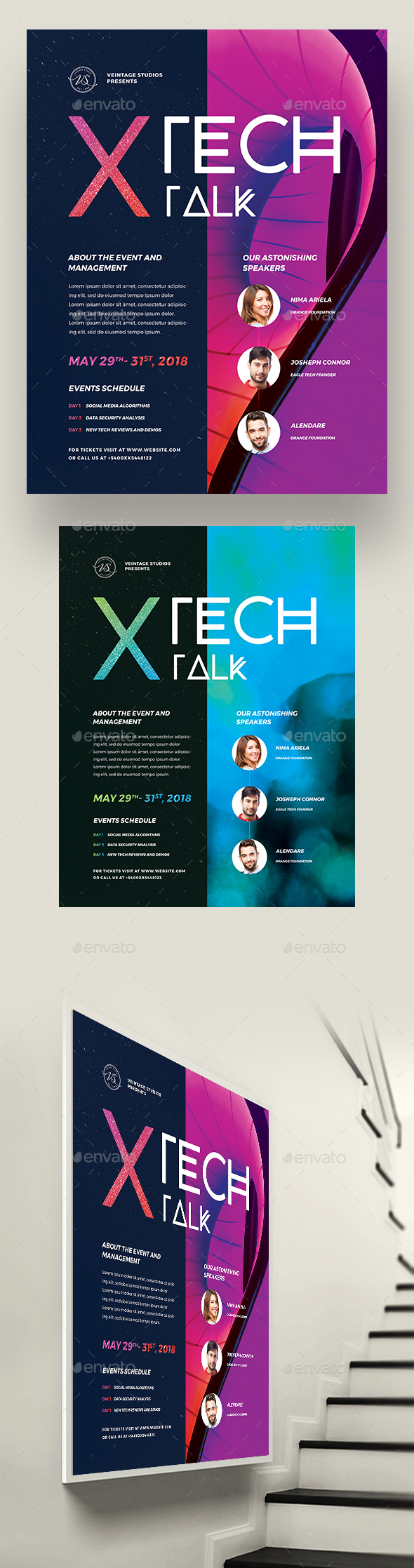 Tech Talk Event Flyer - Events Flyers