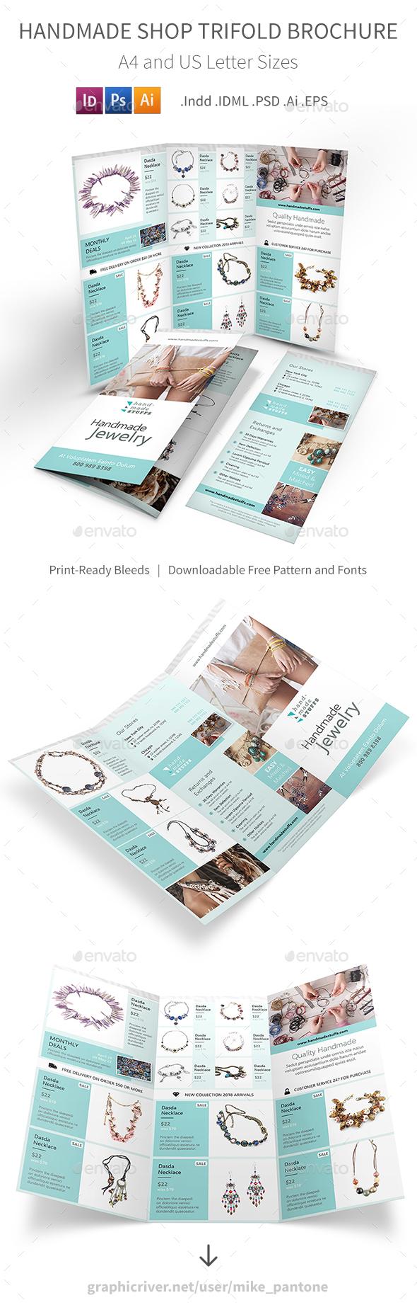 Handmade Shop Trifold Brochure - Informational Brochures