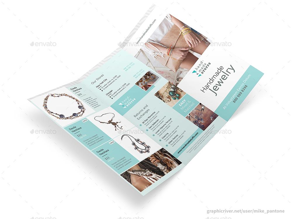 Handmade Shop Trifold Brochure