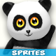 Panda 4-Directional 3D Style Game Character Sprites 04 - GraphicRiver Item for Sale