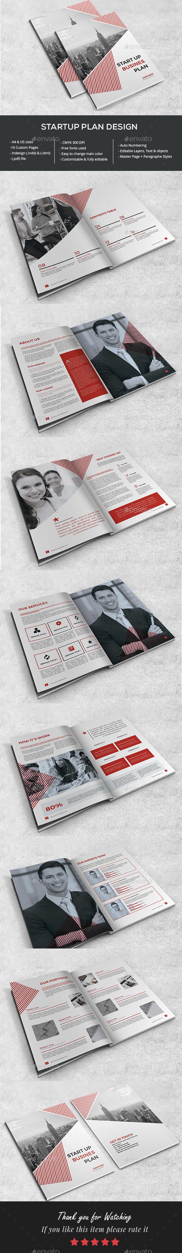 Startup Business Plan - Brochures Print Templates