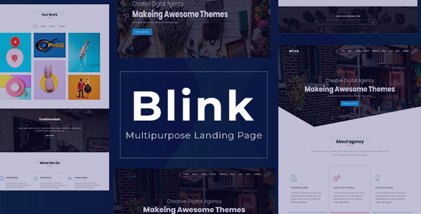 Blink - One page Parallax Landing Page