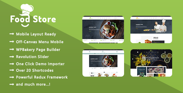 Food Store - Organic Food & Farm Responsive WooCommerce WordPress Theme - WooCommerce eCommerce