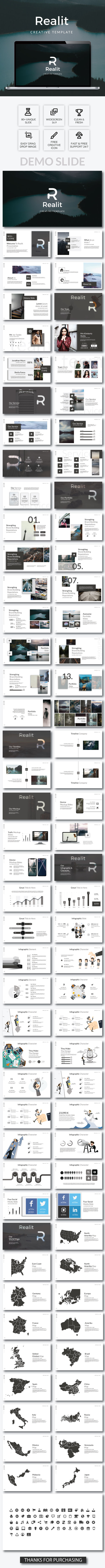 Realit Creative - Keynote Template - Keynote Templates Presentation Templates