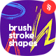 Colorful Hand-Drawn Brushstroke Shapes Seamless Patterns / Backgrounds