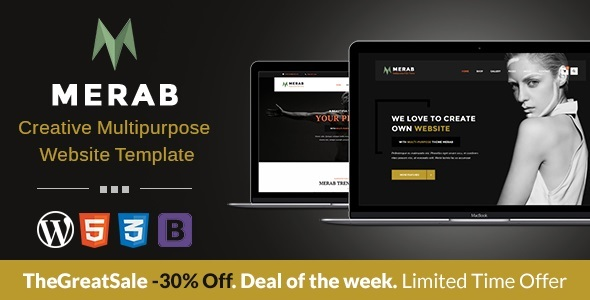 Merab - Creative Multipurpose WordPress Theme - Business Corporate