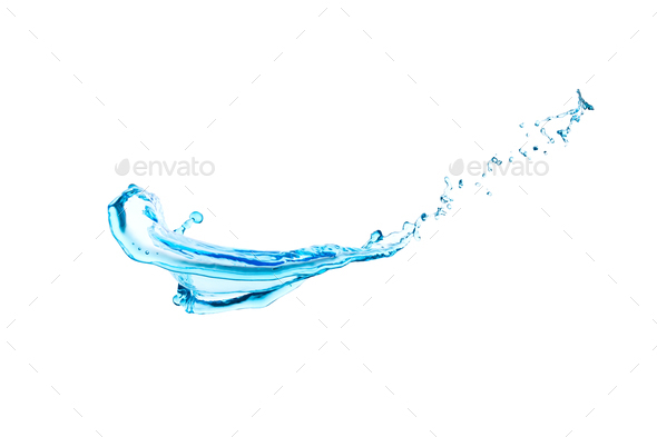 Water, splashes, streams, texture, motion - Stock Photo - Images