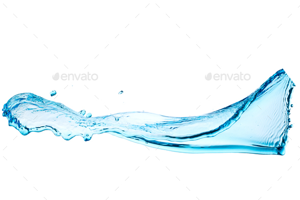 Water, splash, streams, texture, motion - Stock Photo - Images