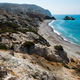 Aphrodite's rock. Rocky coastline on the Mediterranean sea in Cyprus. Petra tou Roumiou - PhotoDune Item for Sale