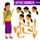Office Worker Vector. Woman. Professional Officer