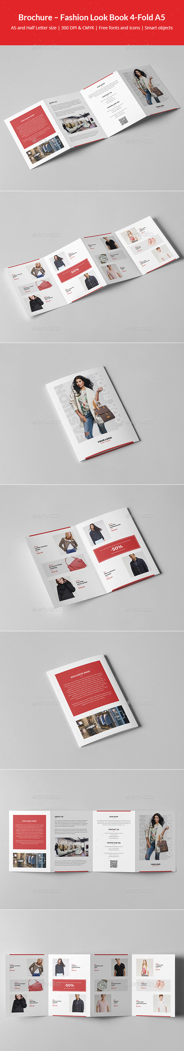 Brochure – Fashion Look Book 4-Fold A5 - Informational Brochures