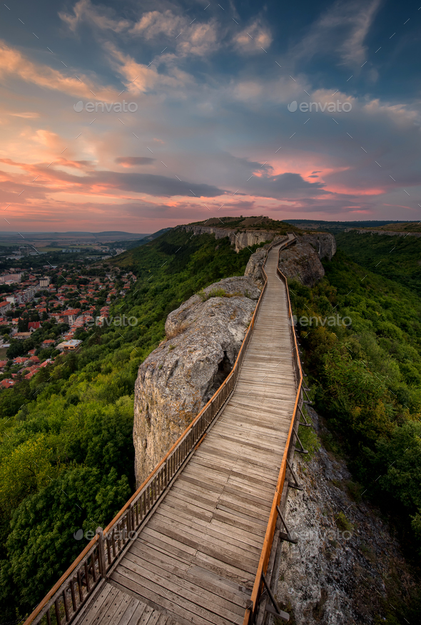 Old fortress at sunset - Stock Photo - Images