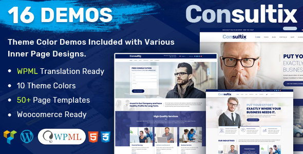 Image of Consultix - Business Consulting WordPress Theme