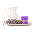 Lavender flowers and lavender candle - PhotoDune Item for Sale