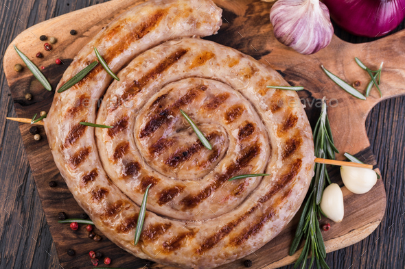 Grilled sausages - Stock Photo - Images