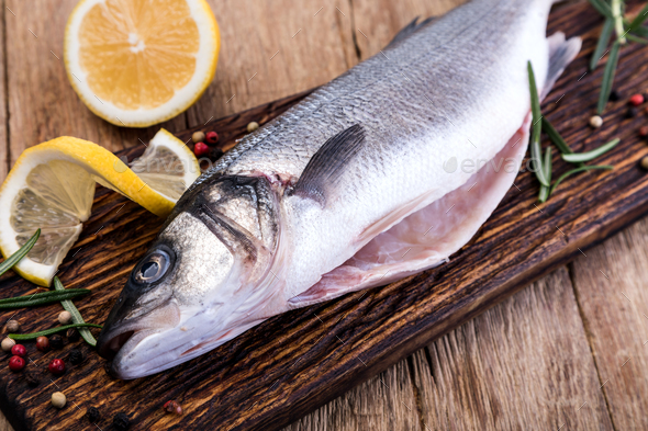 Raw Seabass - Stock Photo - Images