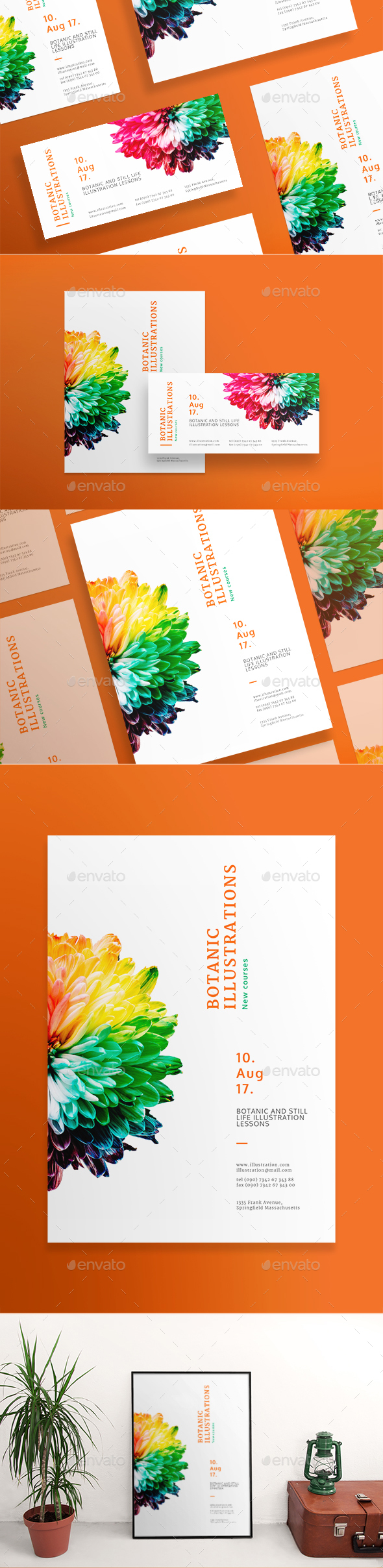 Botanic Illustrations Flyers - Miscellaneous Events
