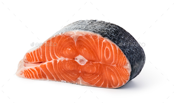 Slice of red fish salmon - Stock Photo - Images