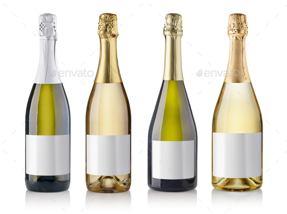 champagne bottles - Stock Photo - Images