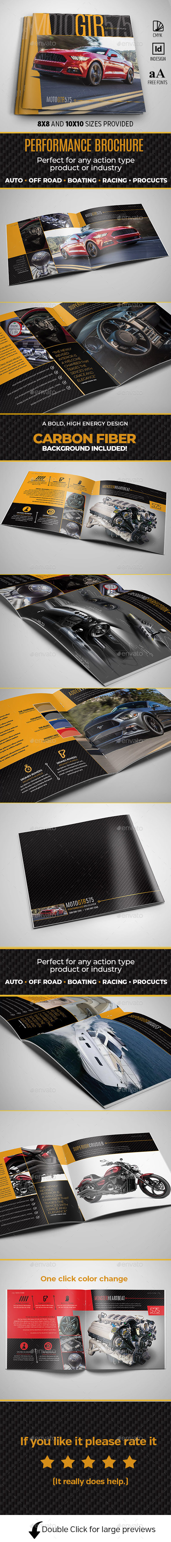 12pg Square Performance Brochure - Brochures Print Templates