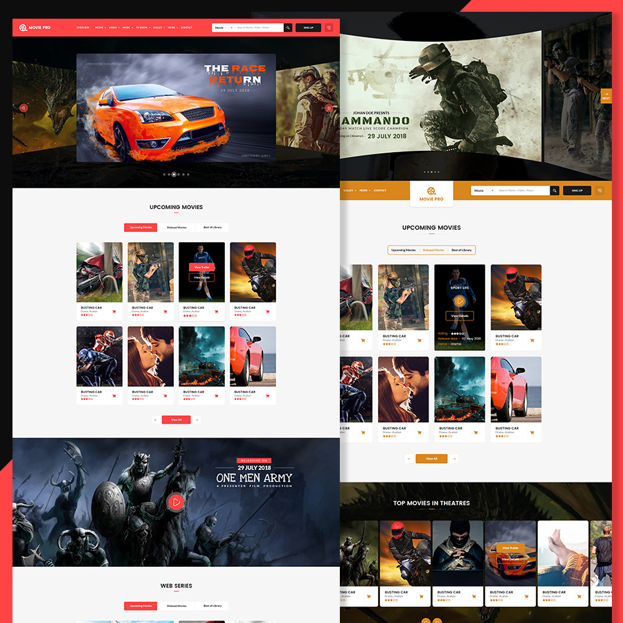 Movie Pro - Film and TV Show PSD Template - 1