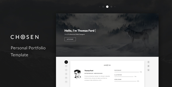 Chosen - Personal Portfolio Template - Personal Site Templates