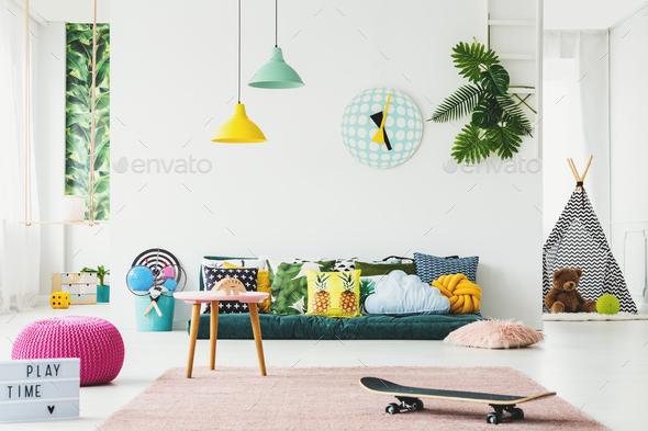 Botanical kid's room - Stock Photo - Images