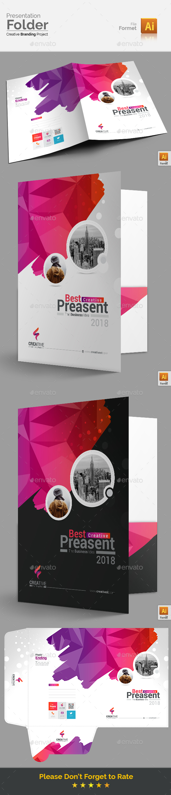 Modern Presentation Folder - Stationery Print Templates