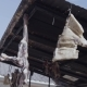 Jerky Meat Hanging Under Metal Tile Roof at Mountain Village - VideoHive Item for Sale