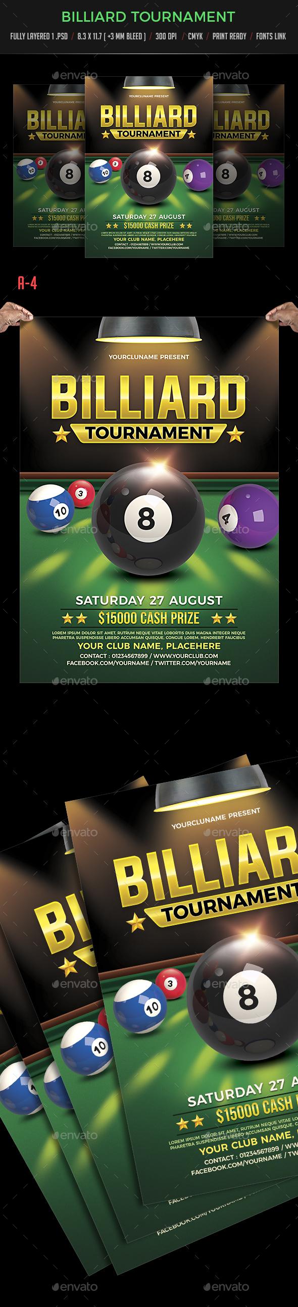 Billiards Tournament - Sports Events