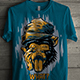 T-Shirt Design with Grunge Monkey Theme