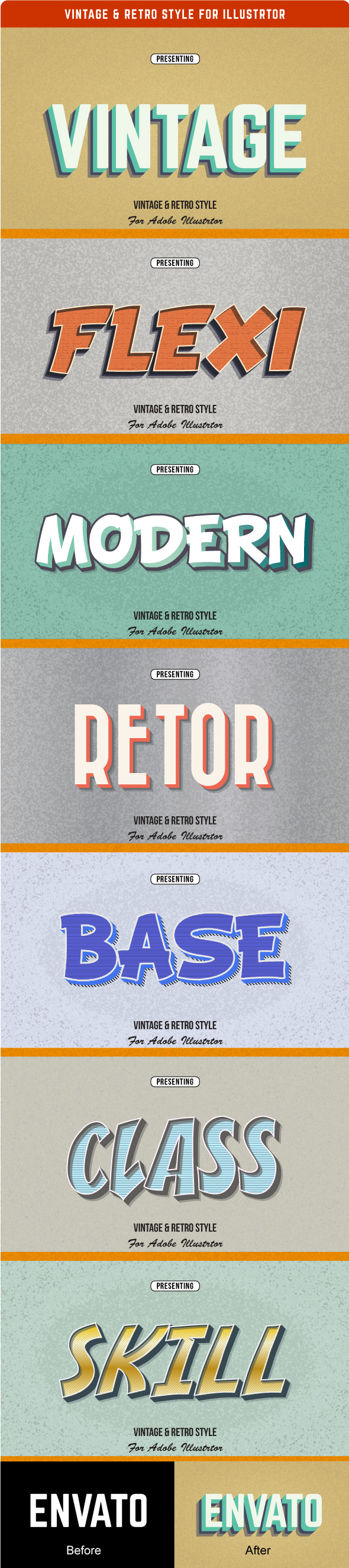 Vintage & Retro Style for Illustrator - Styles Illustrator