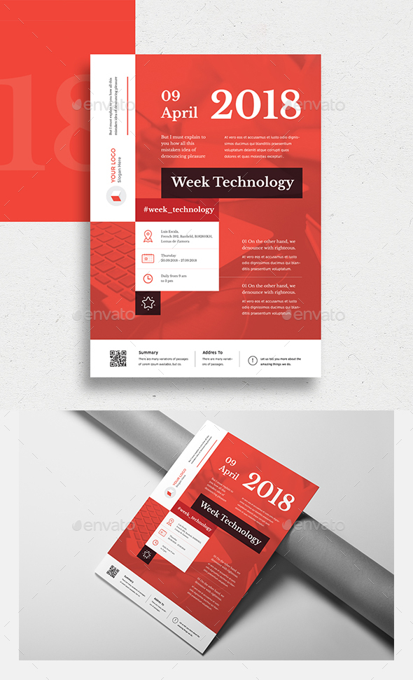 Week Technology Flyer Template - Miscellaneous Events